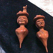 Sweet Vintage Hand Carved Couple