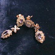 10k Gold, diamond, and Tanzanite Earrings