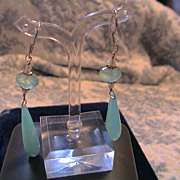 Artisan Pearl, Sterling, and Chalcedony Earrings and Necklace Set