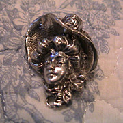 Vintage Lady in Hat Pin