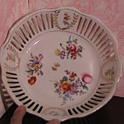 Large Slotted Floral Bowl - RW Bavaria