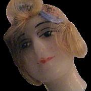 1920's Unused Wax Flapper Head