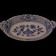 Meissen Blue Onion Fancy Oval Serving Bowl