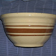 Watt Brown Stripped Rolled Lip Mixing Bowl