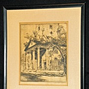 The Portico of Saint Michael's Church by Alfred Hutty