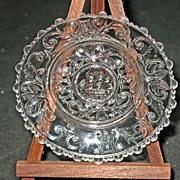 LR# 610-A Sandwich Glass Cup Plate - USS Constitution