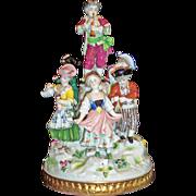 Adorable Dresden Porcelain Figurine Group - signed.