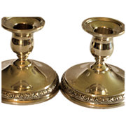 "Sterling Silver Candle Holders International Silver Co.; ""Prelude"""