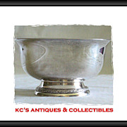 """Sterling silver small footed bowl by International Silver Co.  Pattern """"Prelude""""; Y9"""