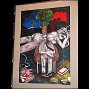 Manifestation, a color lithograph by James G. Davis (49/60); Signed