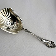 "Watson ""Altair"" BonBon Shell Scoop Spoon Sterling Silver ""W"" Mono"