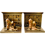 Bradley Hubbard  Gnome Library Bookends Iron Cast