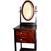 Antique Mahogany Shaving Stand Circa 1890
