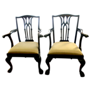 Set 8 Chippendale Mahogany Centennial Dining Chairs