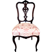 French Mahogany Vanity/Side Upholstered Chair Late nineteenth century to early twentieth century