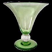 Pairpoint Vaseline Glass Vase Trumpet Style