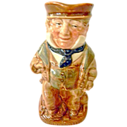 Royal Doulton Porcelain Miniature Toby Jug Figurine Dickens Cap'n  Cuddle