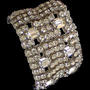 REDUCED KARU  Wide Rhinestone Cuff Crystal Clear  With Tag