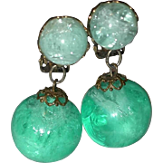 SALE Year End Sale: Green Plastic Bob Earrings - Make an Offer