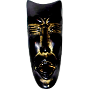 SALE Unique Blackamoor, Art Piece Face Pin