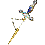 SALE Antique Micro Mosaic Dagger Pin - offered in our Year End BLOWOUT SALE