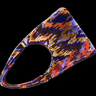 SALE Retro Carpet Bag Purse - See Description for proper coloring