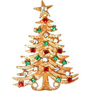 SALE BLOWOUT SALE: Large Designer Christmas Tree Pin by Mylu