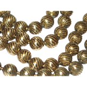 SALE Year End SALE in Progress: Late 19th Century Gold Filled Stamped Beaded Necklace