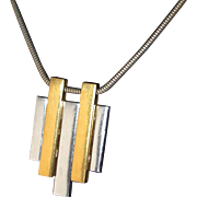 SALE Popular 1970s Avon Mod Pendant Necklace on our Year End SALE
