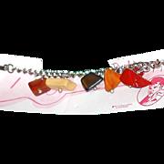 SOLD 1950s Charm Bracelet with Bakelite Chunks, Elvis Presley Rock