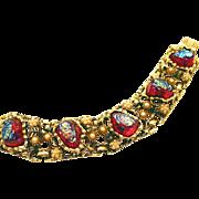SALE Intense Chunky Glass Dragon Teeth or Lava Rock Bracelet