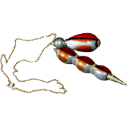 SALE BLOWOUT SALE: Early Plastic Golf Pencil and Pendant Necklace