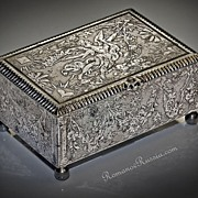 c. 1780 Unusual Antique Russian STEEL BOX for gambling chips