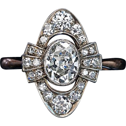 antique edwardian engagement ring from