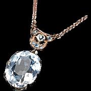 Vintage Art Deco Rock Crystal Necklace