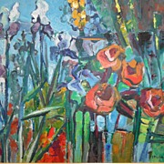 SALE Virginia Stonebarger Floral Oil on Canvas