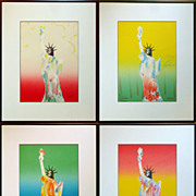 Peter Max (4) 'Liberty' Lithographs Signed / Numbered / Dated 1980