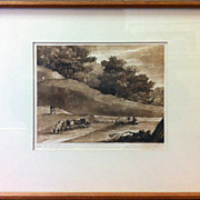 Claude Lorrain & Richard Earlom 'Liber Veritatis' - 'Book of Truth' Sepia Mezzotint - 22