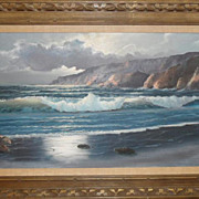 William DeShazo Moonlit Beach Oil on Canvas signed