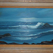 William DeShazo Seascape Oil on Canvas signed
