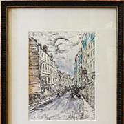 Maurice de Vlaminck 'La Rue de la Glacière' 1937 etching