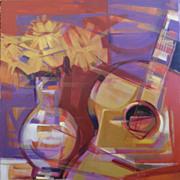 Raul Torres Rojas 'Sobre La Mesa' Acrylic on canvas
