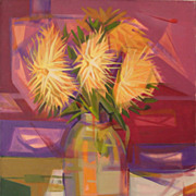Raul Torres Rojas 'Las Flores' Acrylic on Canvas 1994