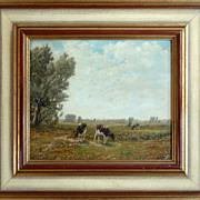 Bernhard Buter,  'Rheinisch Landschaft' Oil Painting