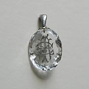 SALE Victorian AEI Rock Crystal Pendant