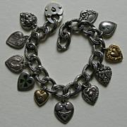 SALE Victorian Mizpah Heart  Bracelet