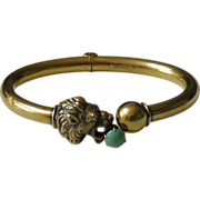 Victorian Lion Turquoise Gold Bracelet