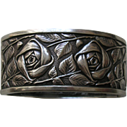 SALE Vintage French Rose 800 Silver Bracelet