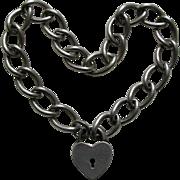 Walter Lampl Sterling Heart Lock and Bracelet