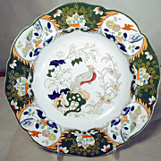 19th Century Mason's Ironstone Plate with Polychrome Enamel